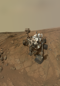 Mars Science Laboratory (Curiosity Rover) taking a 'selfie' on the surface of Mars (Image: NASA/JPL/MSSS)